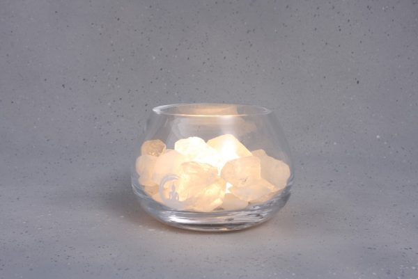 bergkristal lamp angel warm wit
