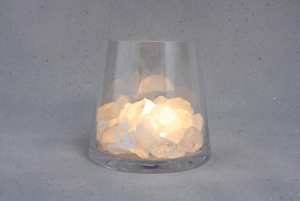 bergkristal lamp sense warm wit