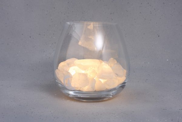 bergkristal lamp yoga warm wit