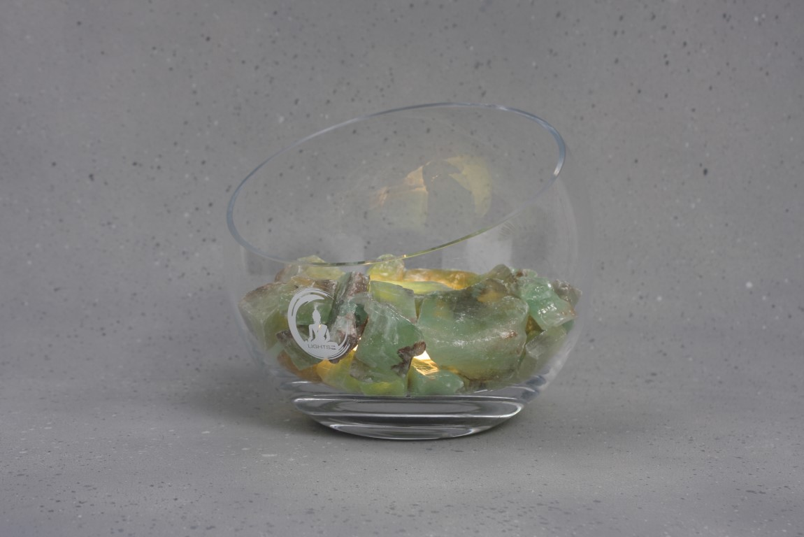 groene calciet lamp spirit warm wit