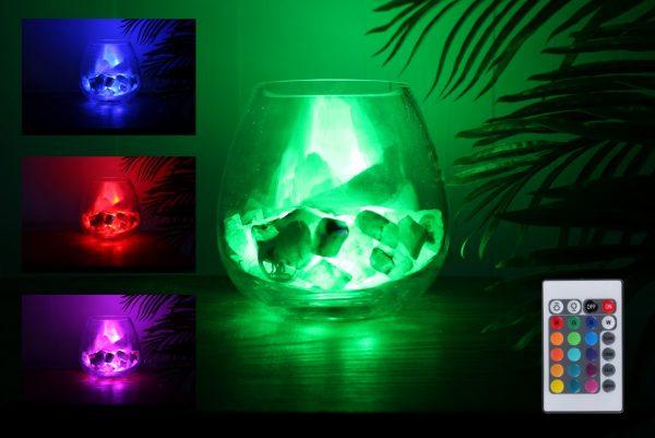 groene calciet lamp yoga rgb